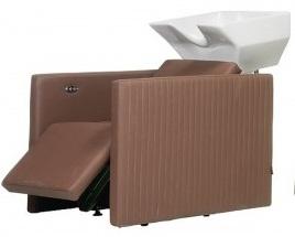 My Salon propose des modèles de bac de lavage intégrant une option massante et un système de lève-jambes électrique.