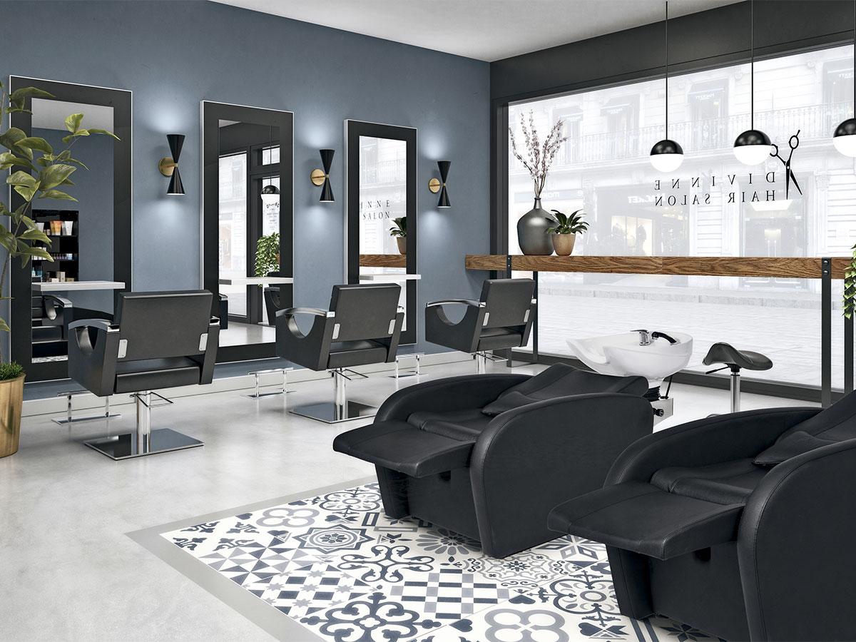 photo ambiance salon de coiffure Divinne