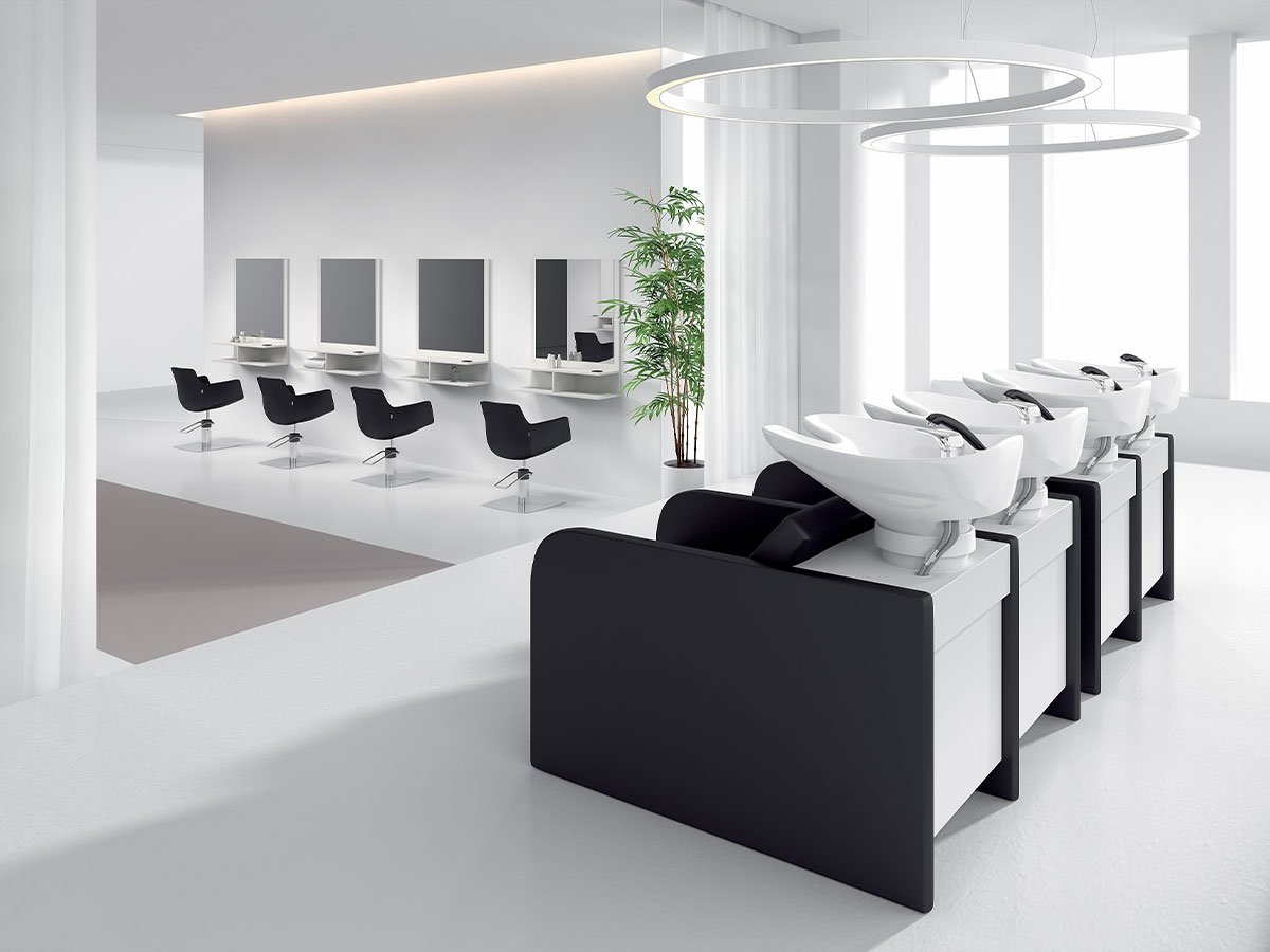 photo ambiance salon de coiffure Gleam