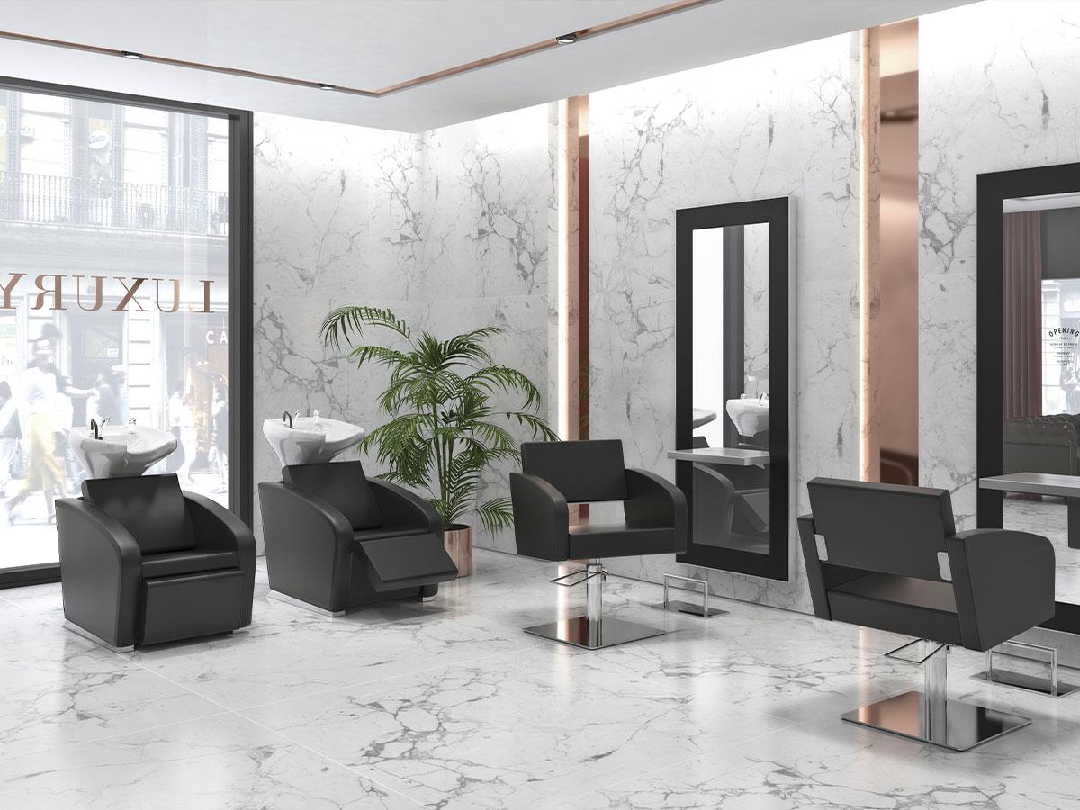 photo ambiance salon de coiffure Luxury