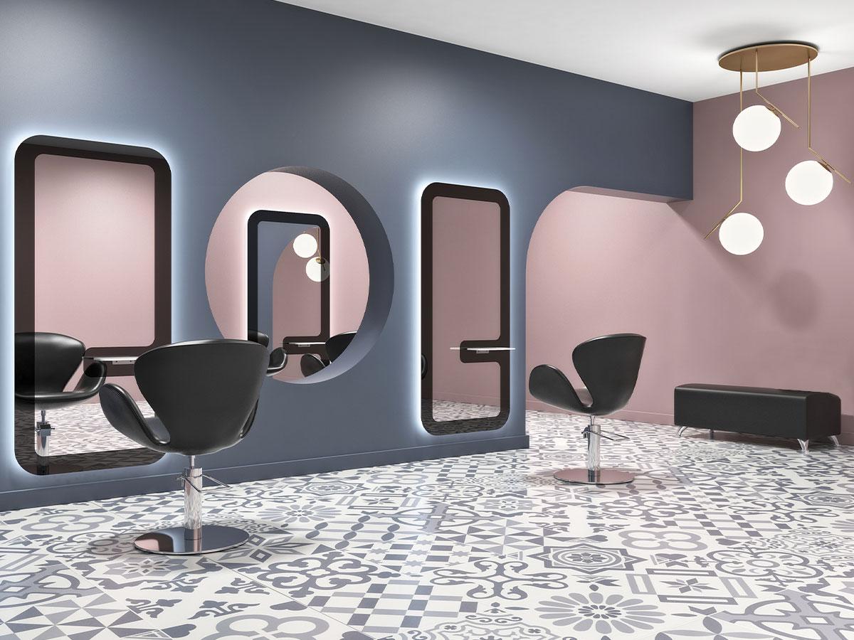 photo ambiance salon de coiffure Pop Art